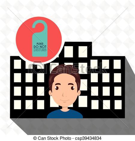 Vectors of man hotel service building vector illustration design.