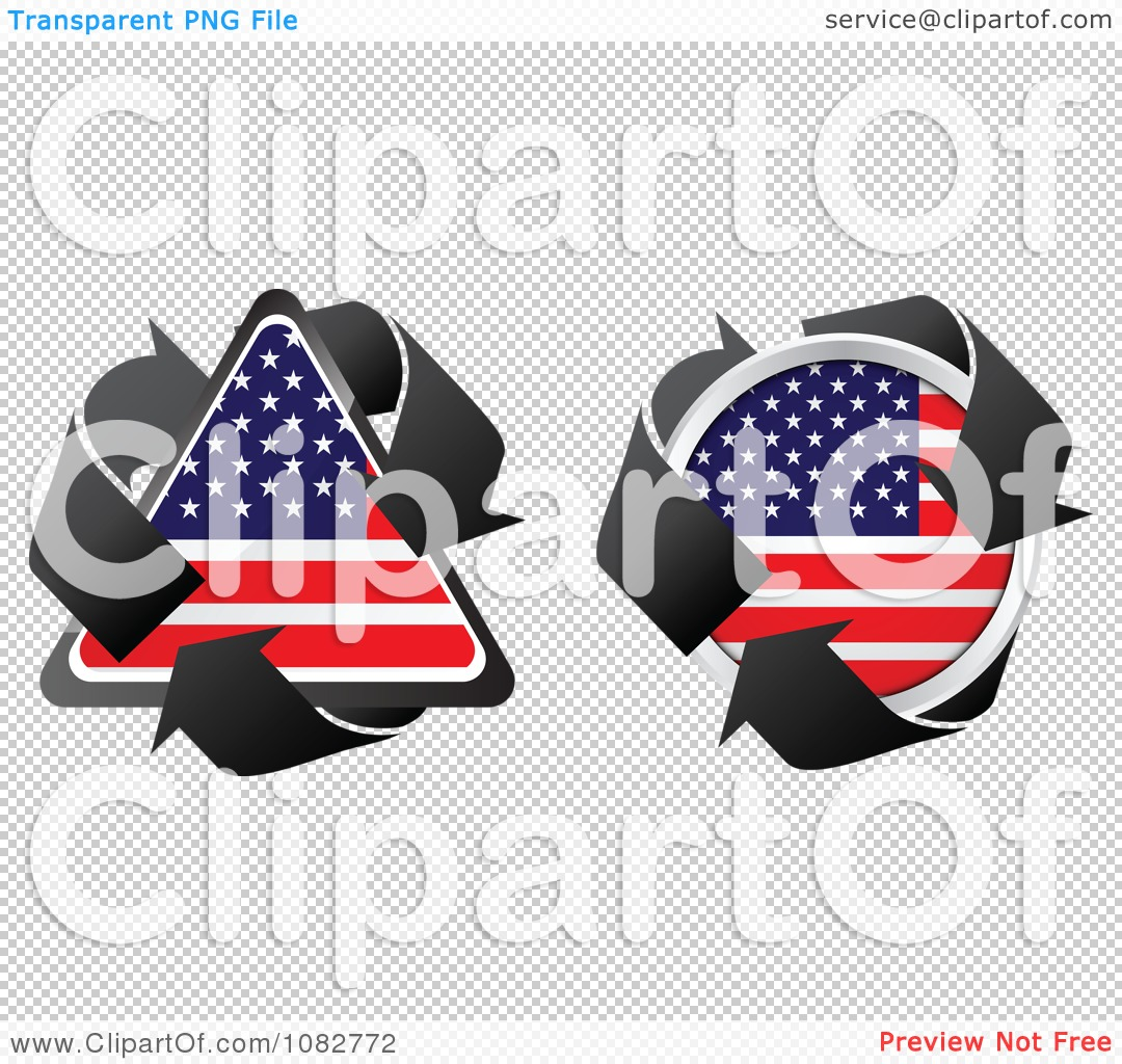 Round Us Flag Free Clipart.