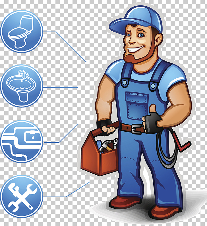 Professional home repair workers, service man illustration.