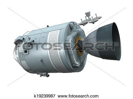 Stock Illustration of Apollo Command Service Module k19239987.