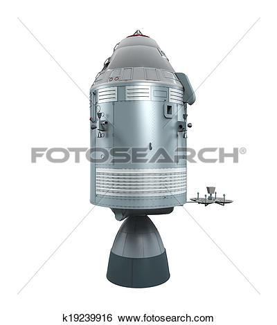 Stock Illustration of Apollo Command Service Module k19239916.
