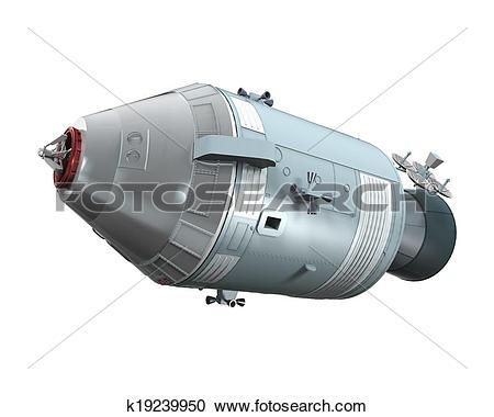 Stock Illustrations of Apollo Command Service Module k19239950.