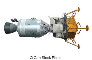 Stock Illustrations of Apollo Command Service Module isolated on.