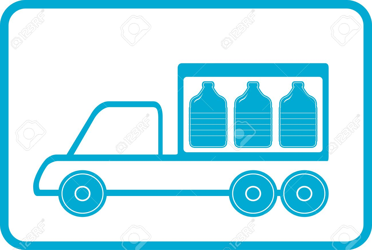Lorry With Plastic Bottles.