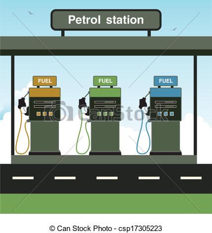 Vector Illustration of Petrol station.