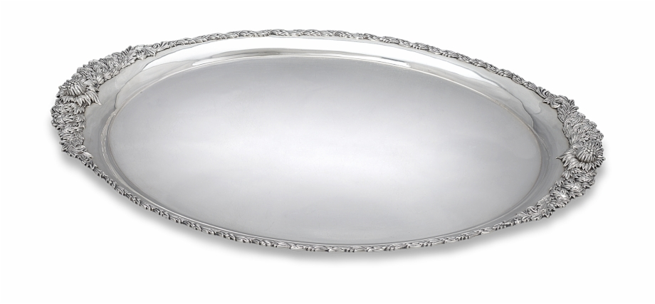 Chrysanthemum Sterling Silver Serving Tray By Tiffany.