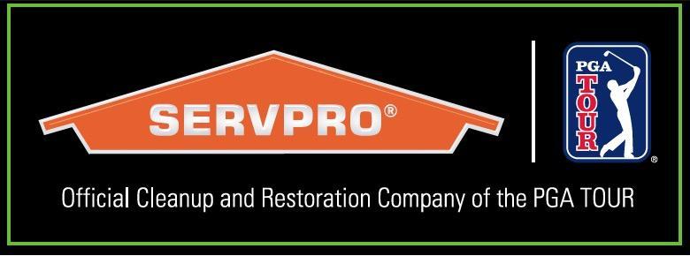 Vinyl Stickers PGA TOUR / SERVPRO® logo.