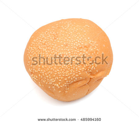 Round Sandwich Bun Sesame Seeds Isolated Stock Photo 97688228.