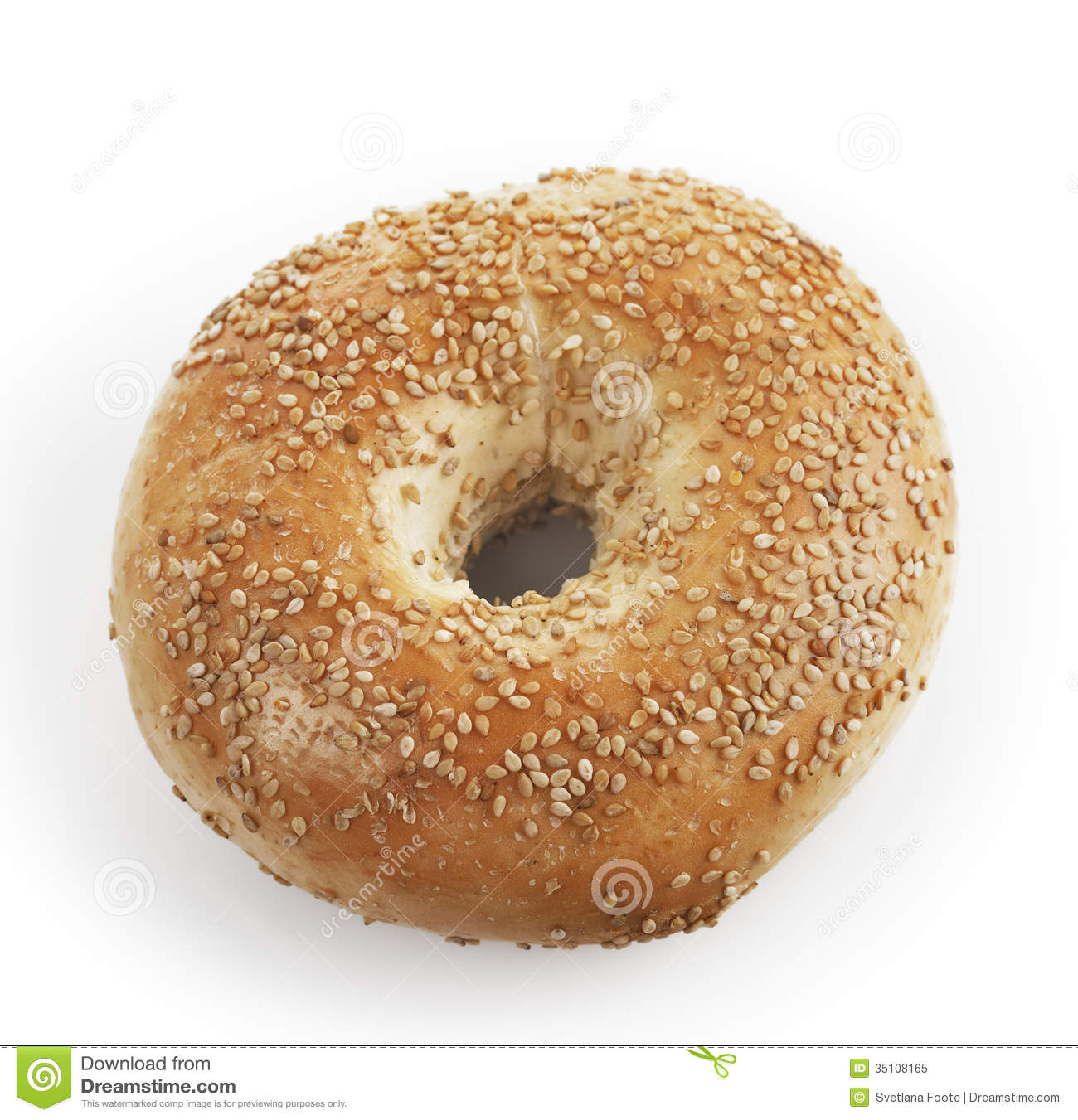 Bagel With Sesame Seeds Royalty Free Stock Photo.