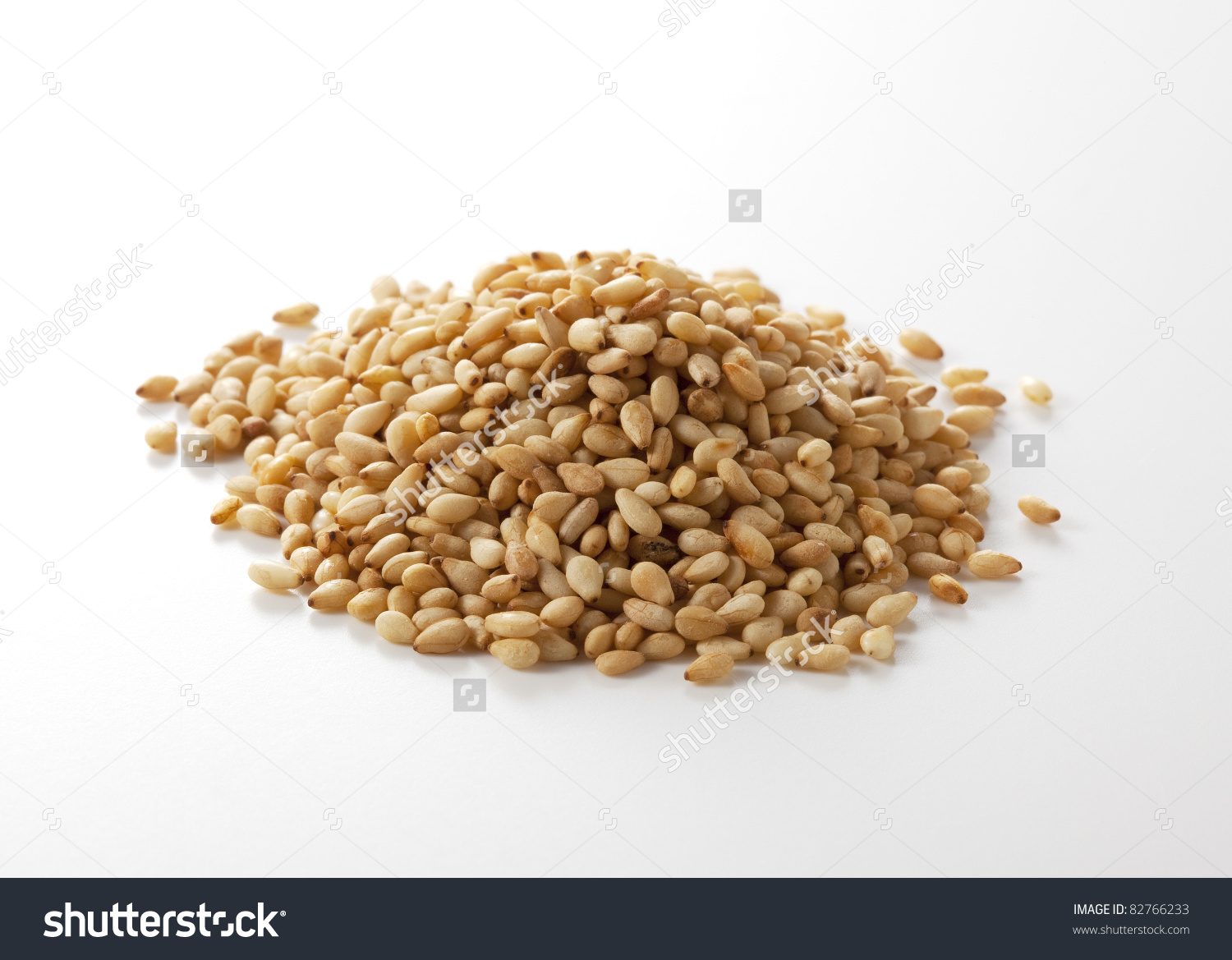 Sesame Seeds Isolated On White Background Stock Photo 82766233.