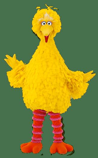 Sesame Street Big Bird transparent PNG.