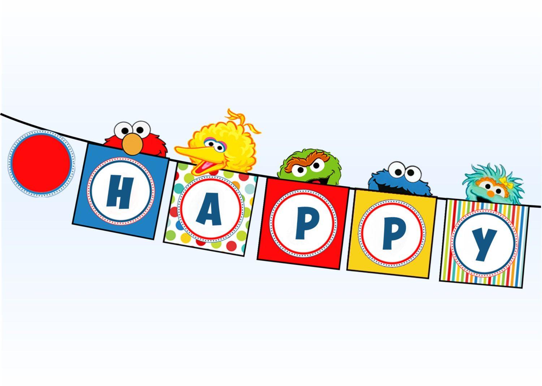 Sesame Street Banner.