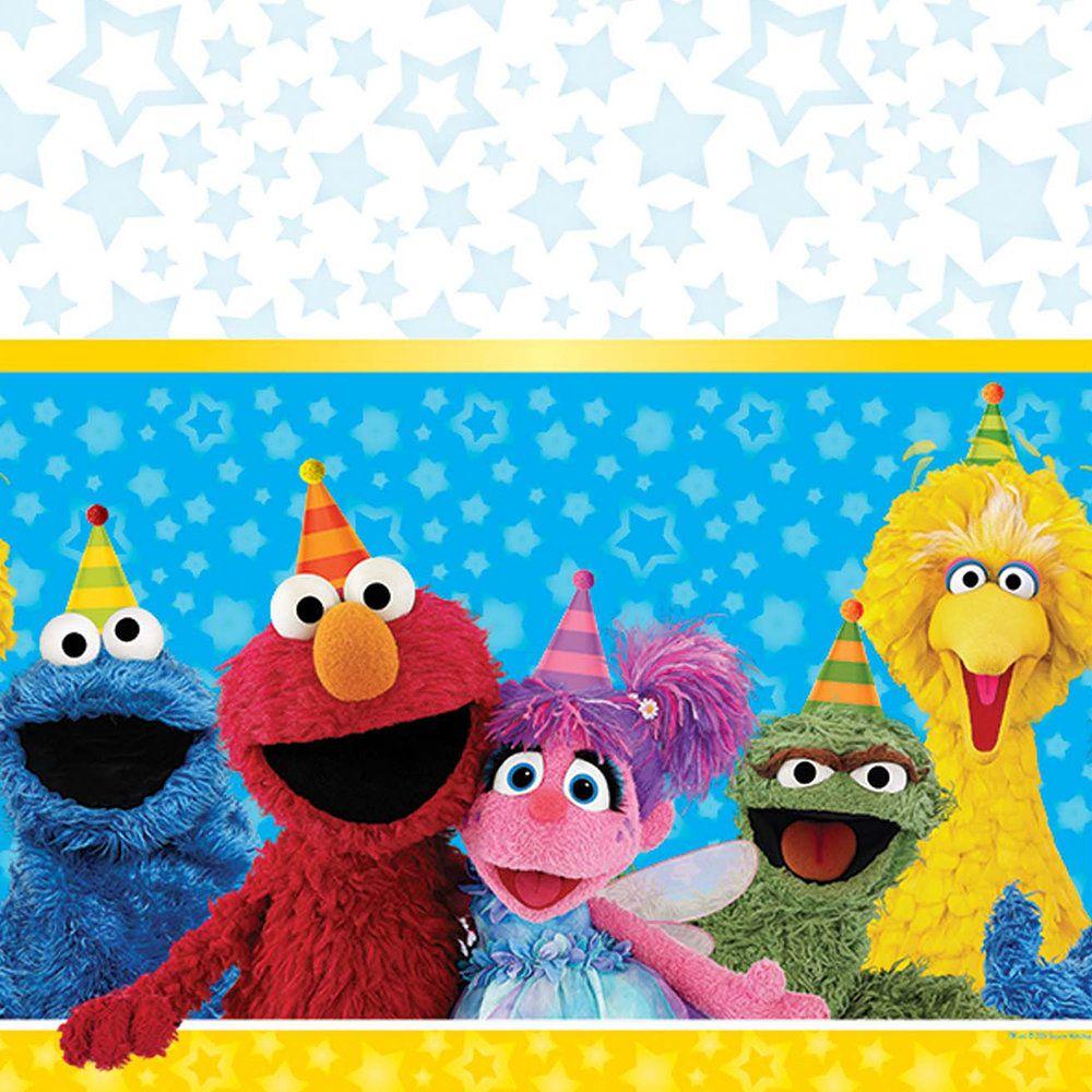 Sesame Street Plastic Table Cover.