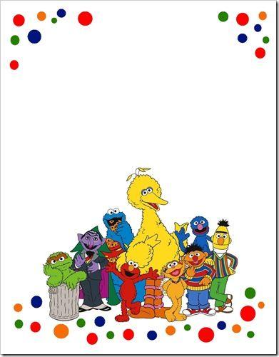 Sesame Street Invite Template.