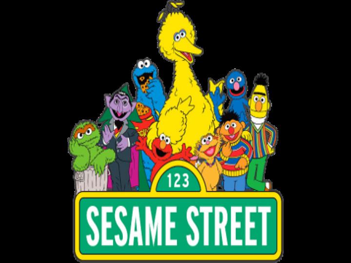 Elmo Big Bird Count von Count Sesame Street characters.