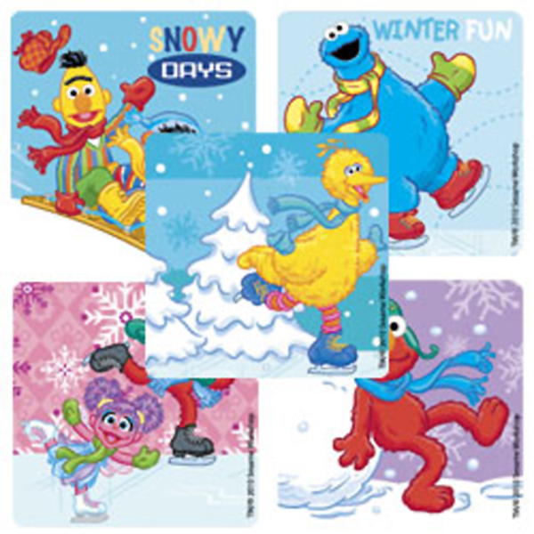 Sesame Street Christmas Value Stickers (5) at Birthday Direct.