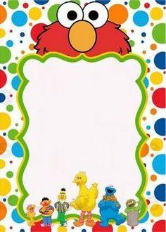 Sesame Street Clipart border 1.