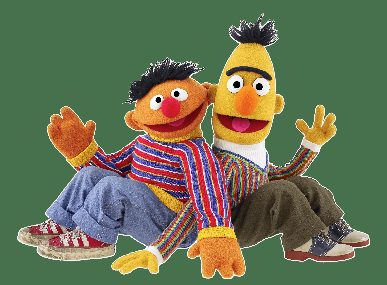 Sesame Street Bert and Ernie Sitting transparent PNG.
