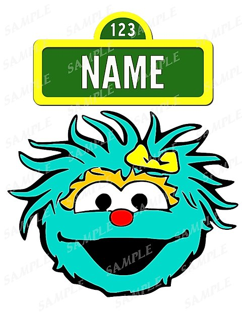 Sesame Street. Rosita. Digital File for Iron on Transfer. Any Name..