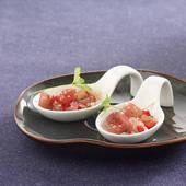 Stock Images of Tuna ,shallot ,sesame seed and grapefruit tartare.