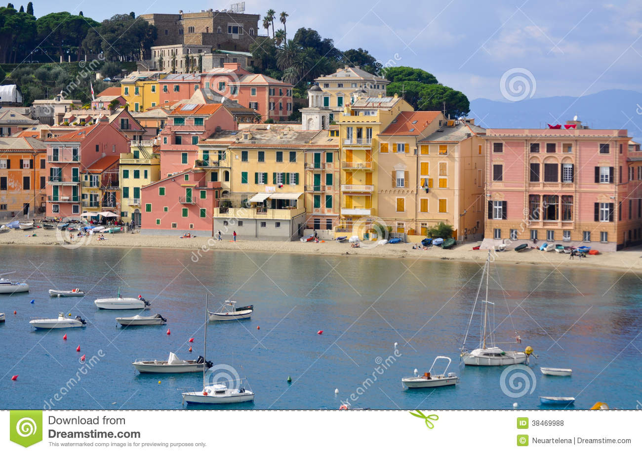 The Bay, The Bay Of Silence In Sestri Levante, Italy Royalty Free.