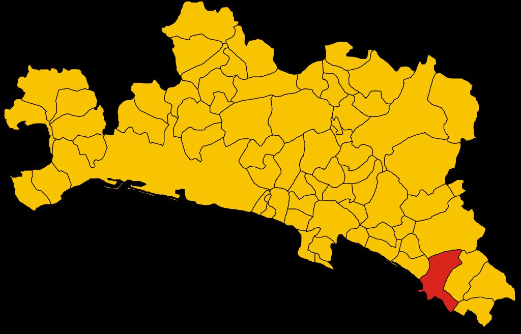 File:Map of comune of Sestri Levante (province of Genoa, region.