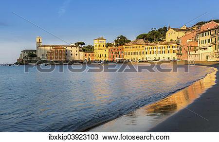 """Stock Photo of """"Baia del Silenzio, Bay of Silence, Sestri Levante."""