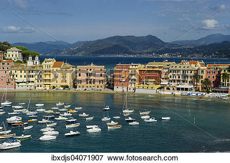 """Picture of """"The bay of Baia del Silenzio, Sestri Levante, Province."""