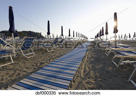 Stock Image of Italy, Liguria, Sestri Levante, Row of outdoor.