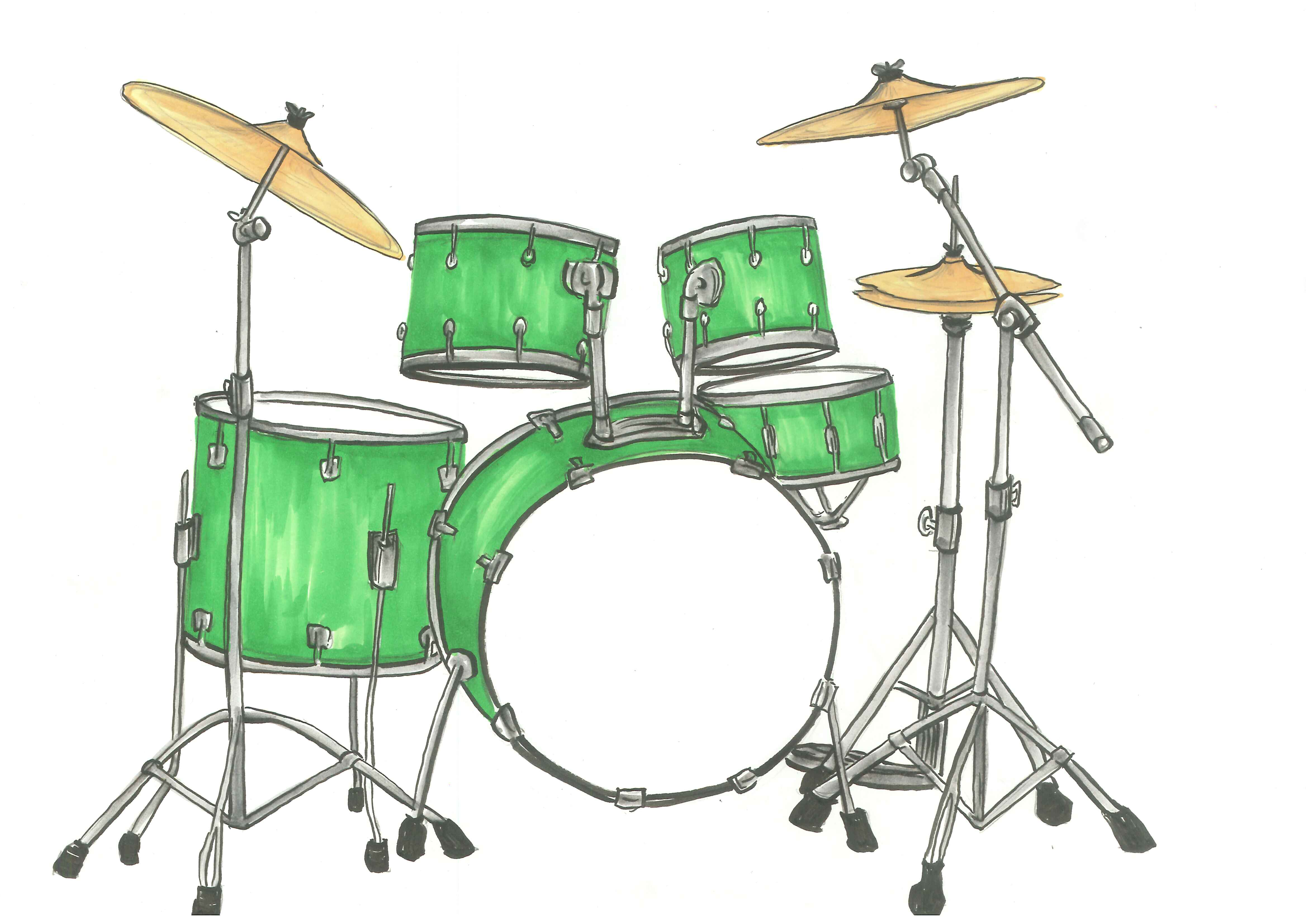 Drum Set Clip Art.