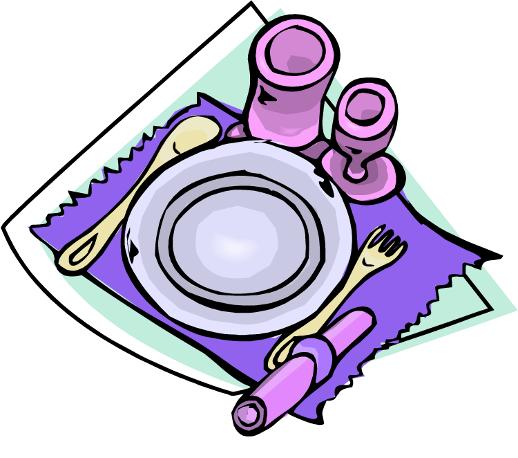 Table setting clipart - Clipground