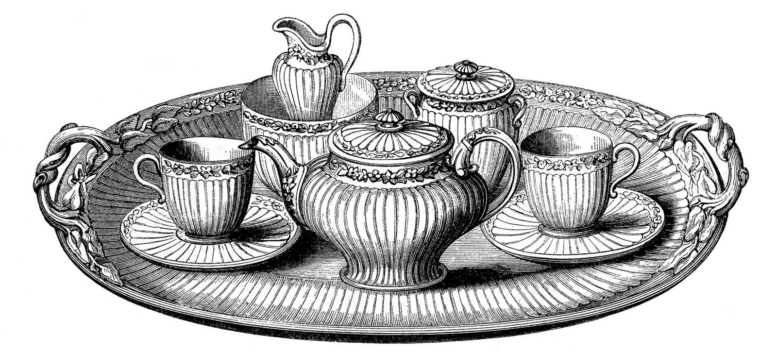 46+ Tea Set Clipart.