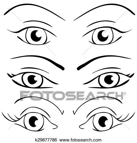 Set of eyes clipart 5 » Clipart Station.