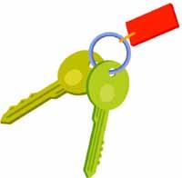 set of keys.