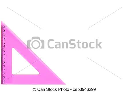 Stock Photographs of Pretty pink set square.