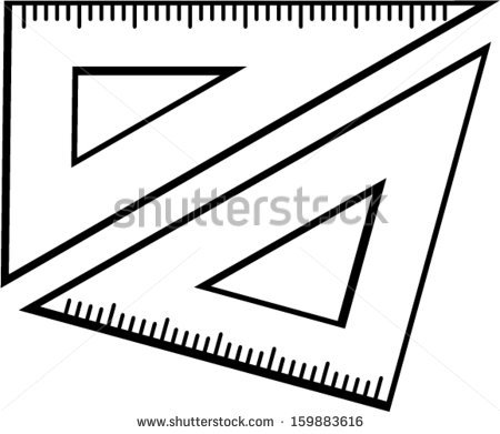 Set Square Triangle Rulers Stock Vector 159883616.