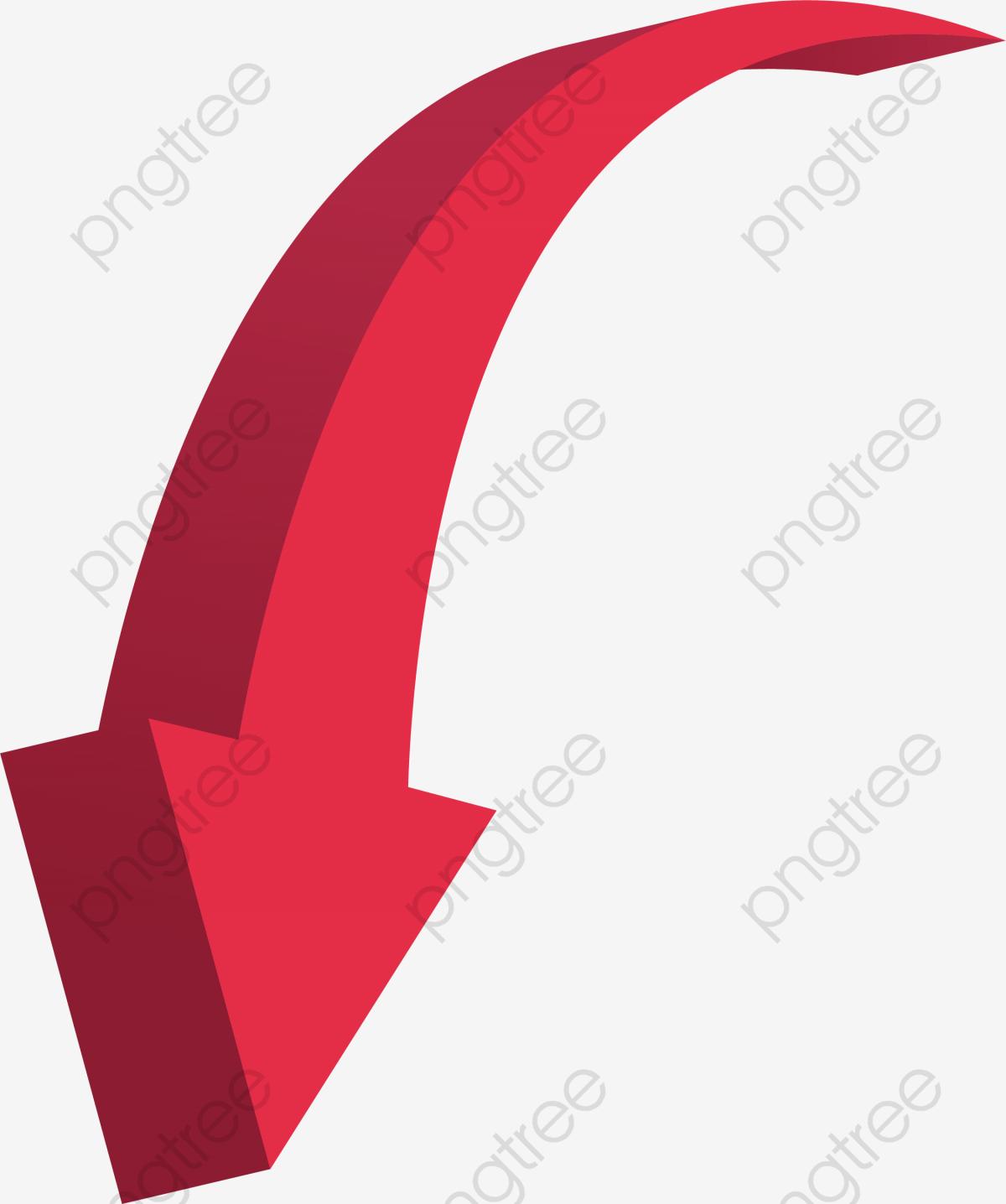 Queda De Seta Vermelha, Vector Png, A Seta, A Seta Vermelha.