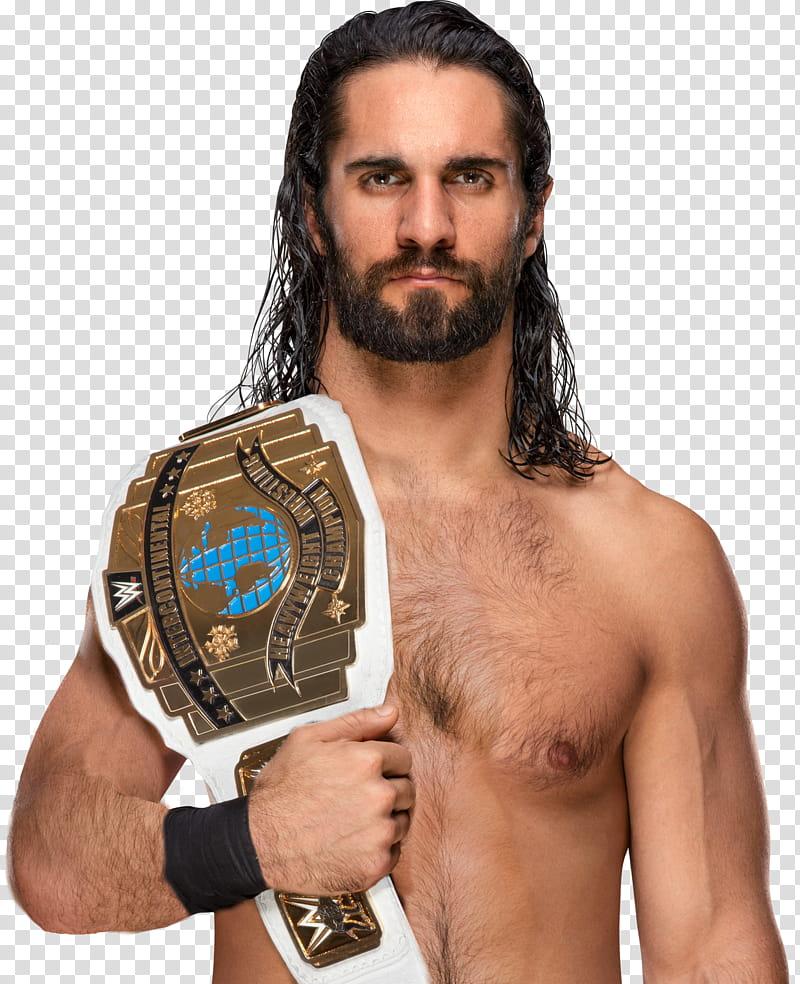 Seth Rollins Intercontinental Champion transparent.