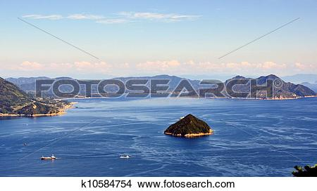 Stock Photo of Seto Inland Sea in Japan k10584754.