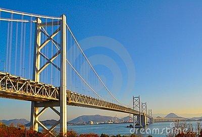 Seto Ohashi Bridge Royalty Free Stock Photography.