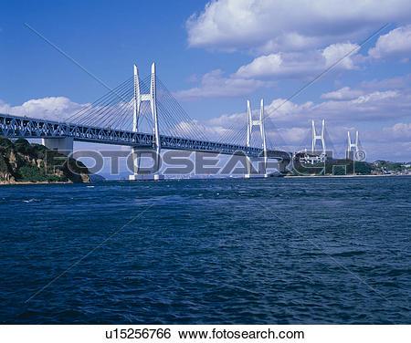 Stock Images of Seto Ohashi Bridge u15256766.