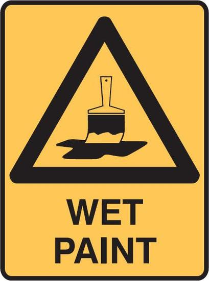 Warning Signs Wet Paint Safety Equipment Supplier Seton Clipart.