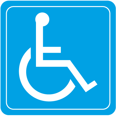 Wheelchair Symbol Interior Sign.