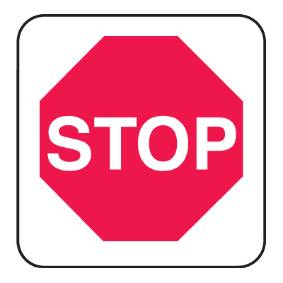 Mini Stop Signs.