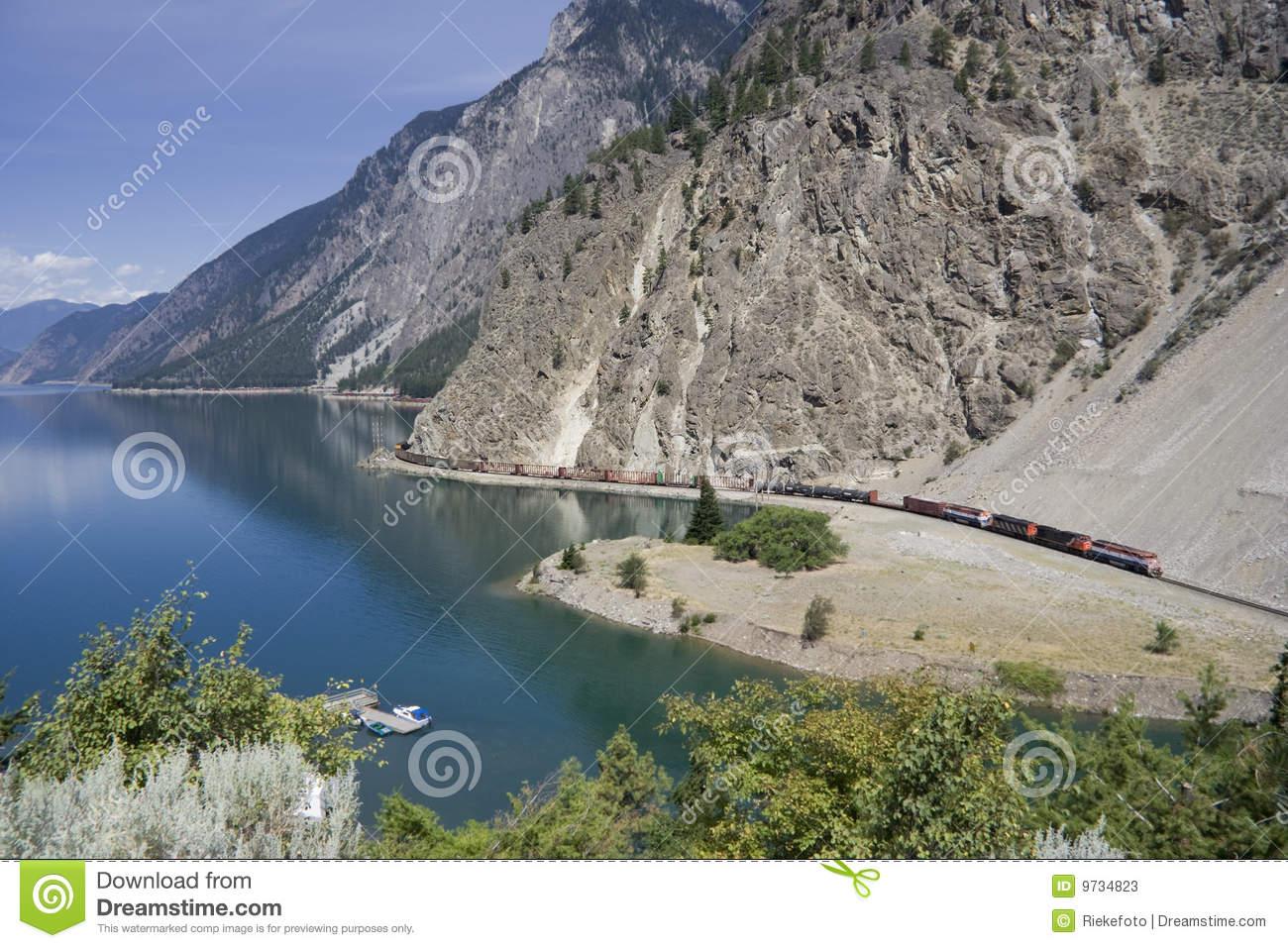 Long Freight Train Stock Photos.