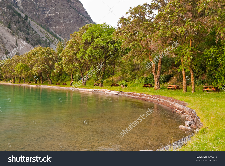 Beautiful Picnic Area At Seton Lake, Canada. Stock Photo 54909316.