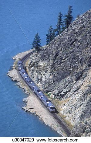 Stock Photograph of The Prospector, BC Rail passenger train.