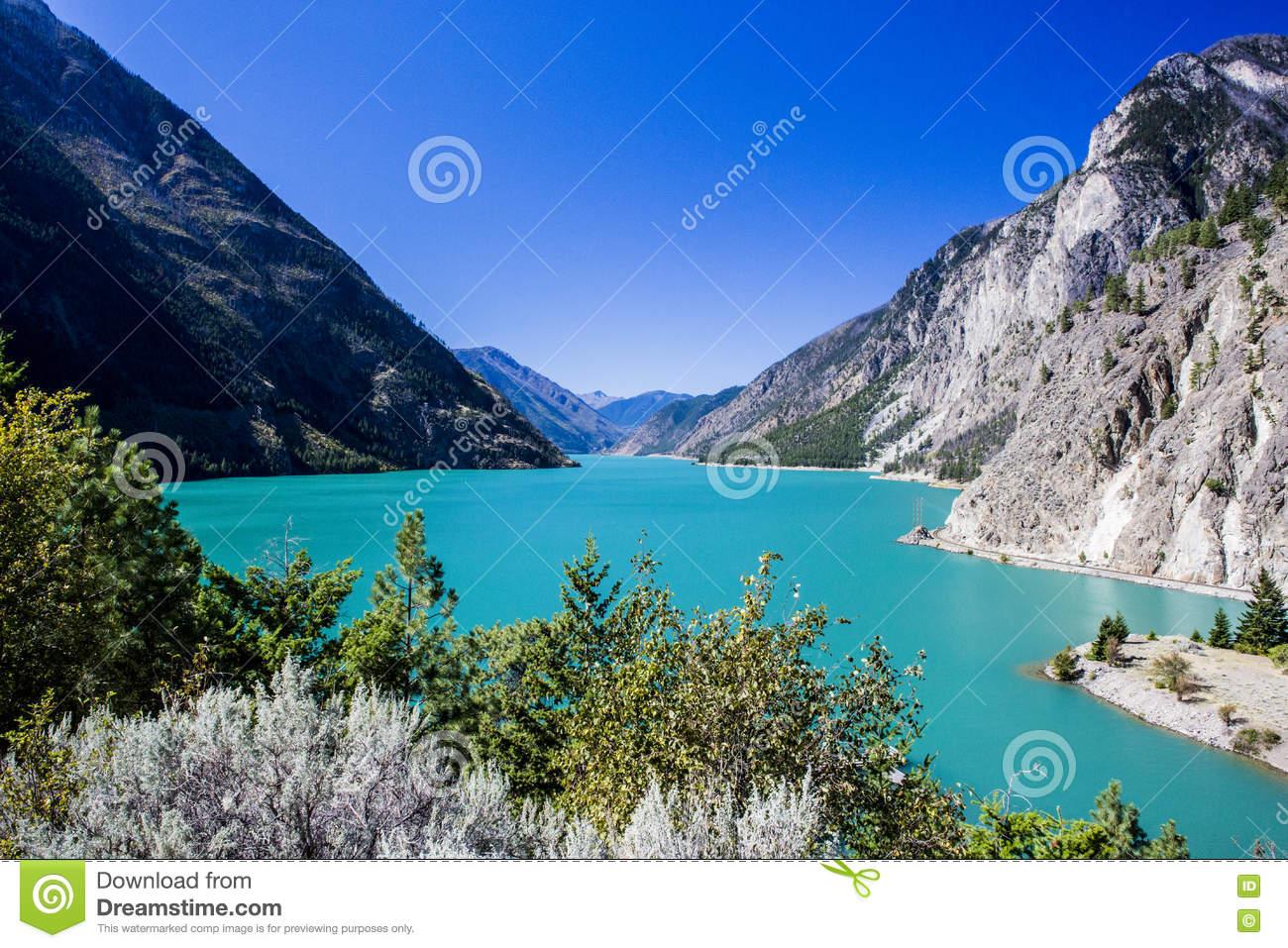 Seton Lake, BC, Canada Stock Photo.