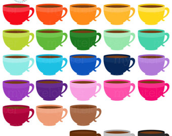 Rainbow Hot Chocolate Clipart Set clip by mycutelobsterdesigns.