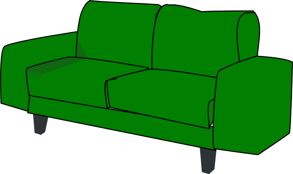 Clip Art Of Couch Back Clipart.